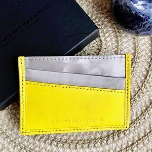 Stewart Stand RFID Stainless Steel/Lthr Card Case
